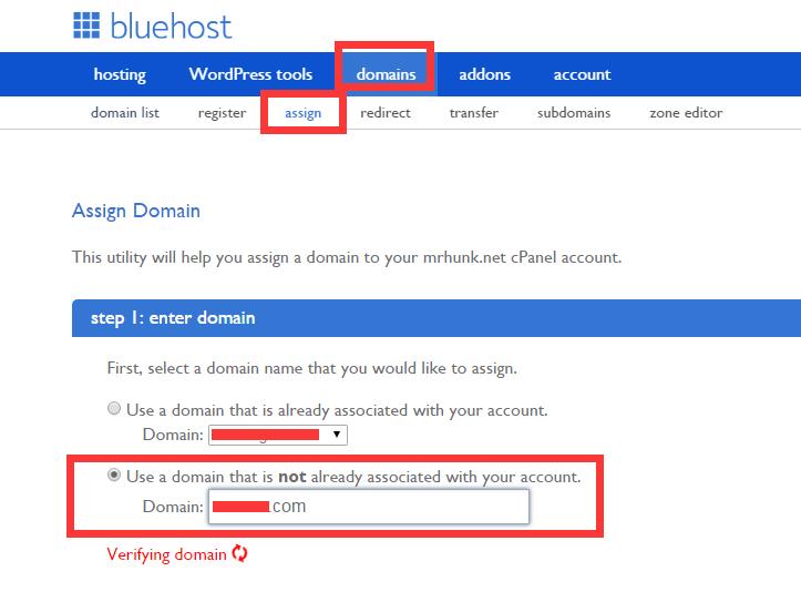 Bluehost安装多个网站1