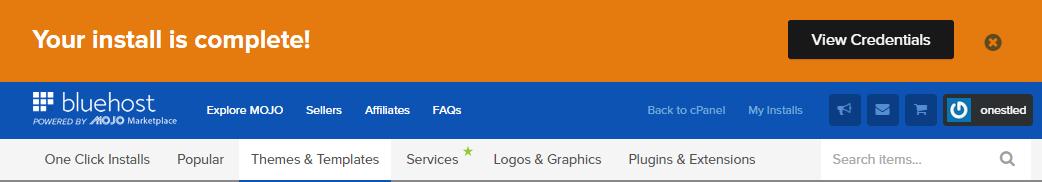 Bluehost安装多个网站8