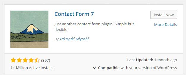 contact form 7使用介绍
