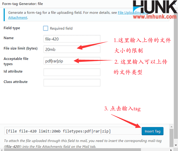 contact form 7 表单编辑 8