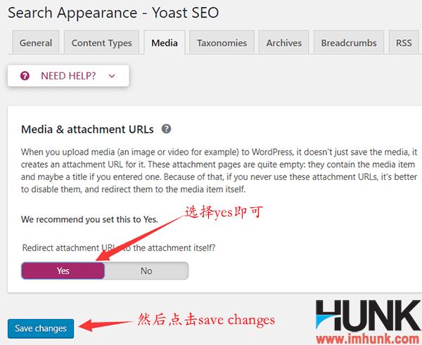 yoast seo插件search appearance子菜单之media菜单