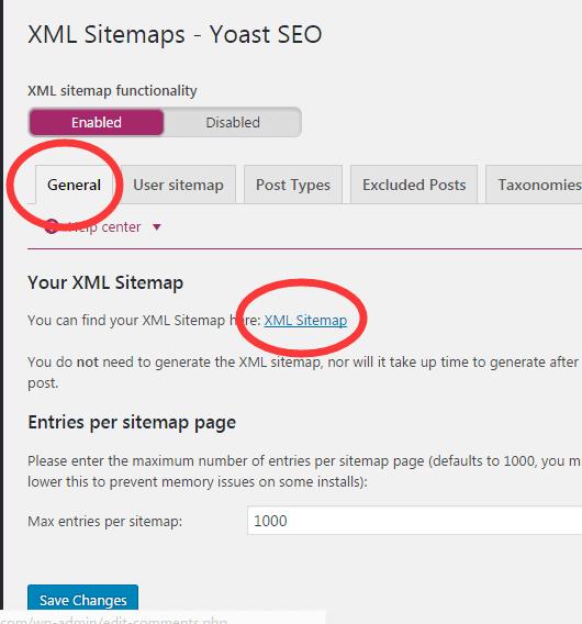 yoast seo网站地址设置