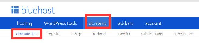 Bluehost域名转到Namesilo流程 1