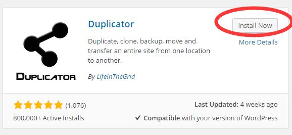 Duplicator插件 1