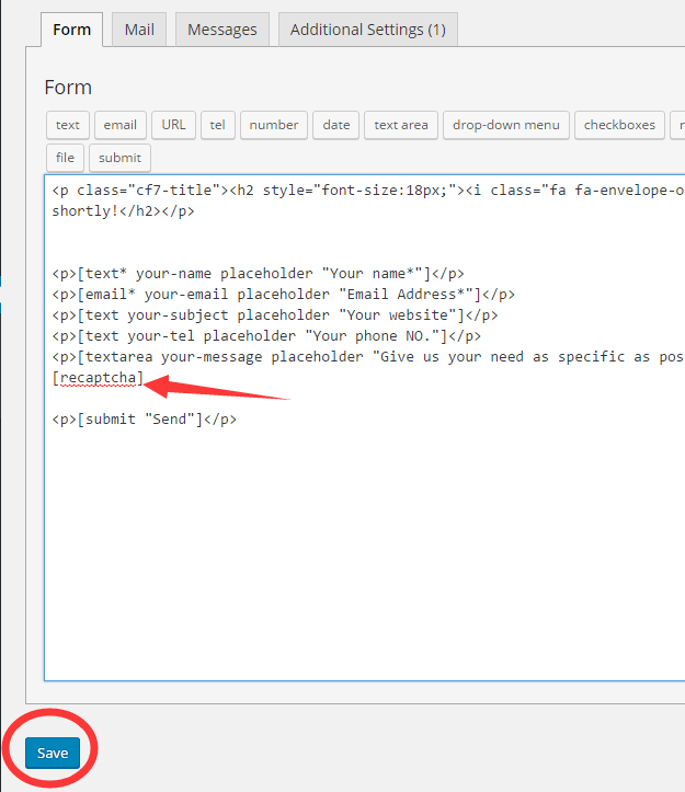 Contact form 7增加防垃圾询盘功能 9