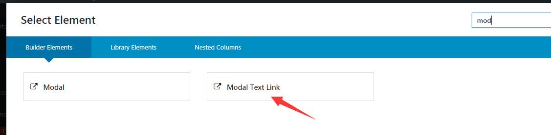 modal text link