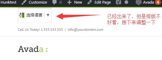 如何在Avada网站添加Google翻译 8