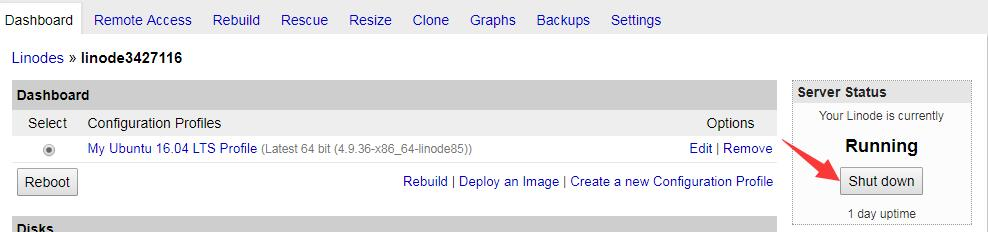 LINODE空间root密码重置 2