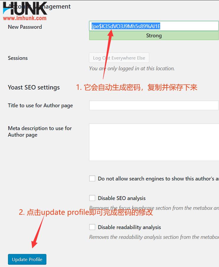 wordpress网站修改密码方法 2