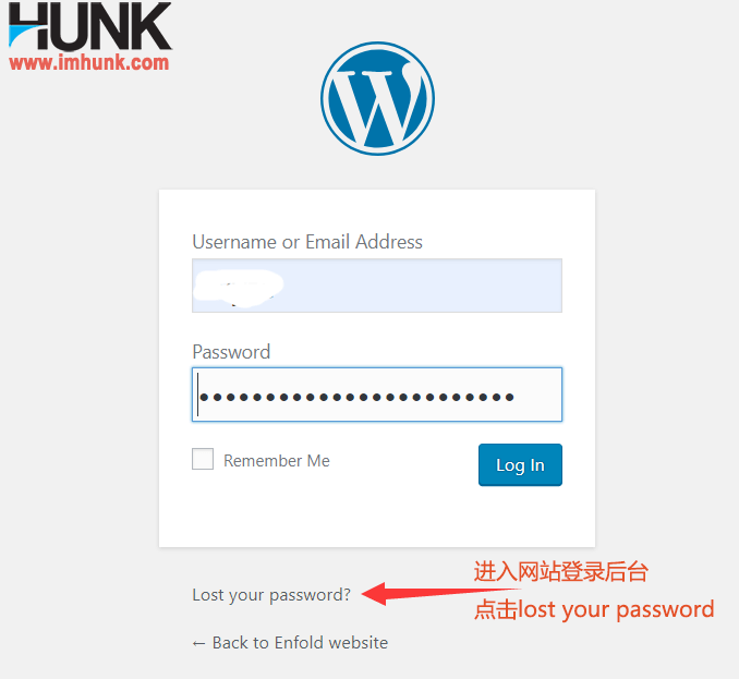 wordpress 找回密码 1