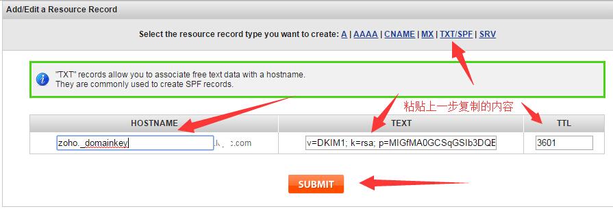 zoho email DKIM 6