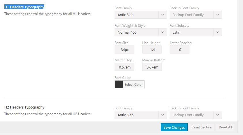 AVADA网站字体设置的方法 8