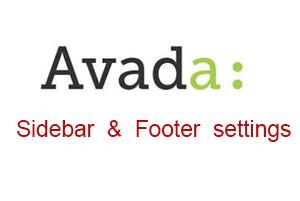 怎么设置AVADA网站的sidebar和footer?
