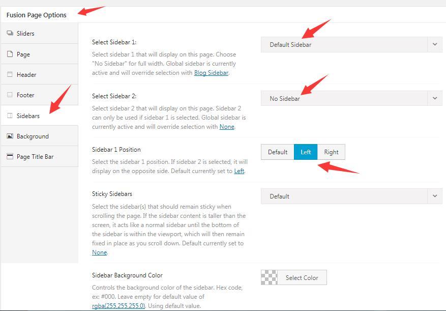 怎么设置AVADA网站的sidebar和footer 10