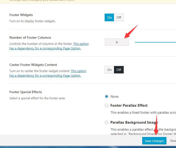 怎么设置AVADA网站的sidebar和footer 12