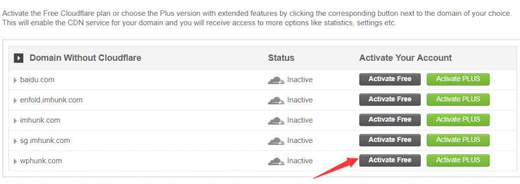 siteground空间使用 cloudflare 1