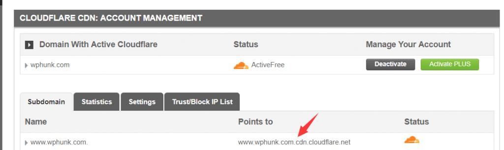 siteground空间使用 cloudflare 5