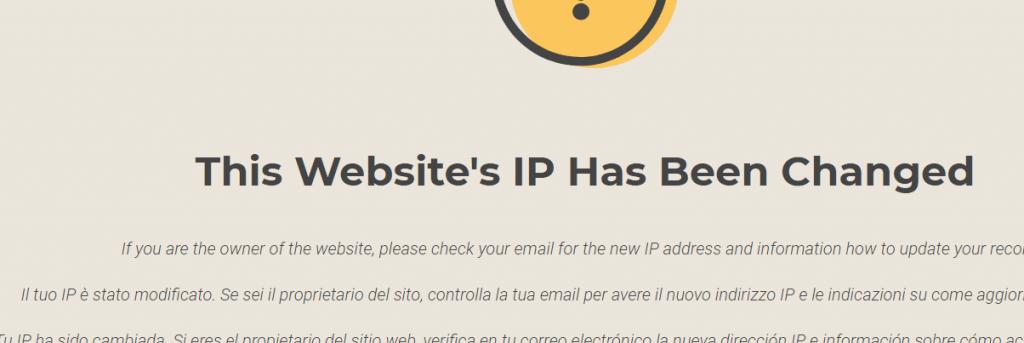 siteground网站提示IP已经改变