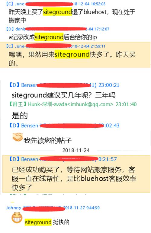 siteground在QQ群友的评价也很高