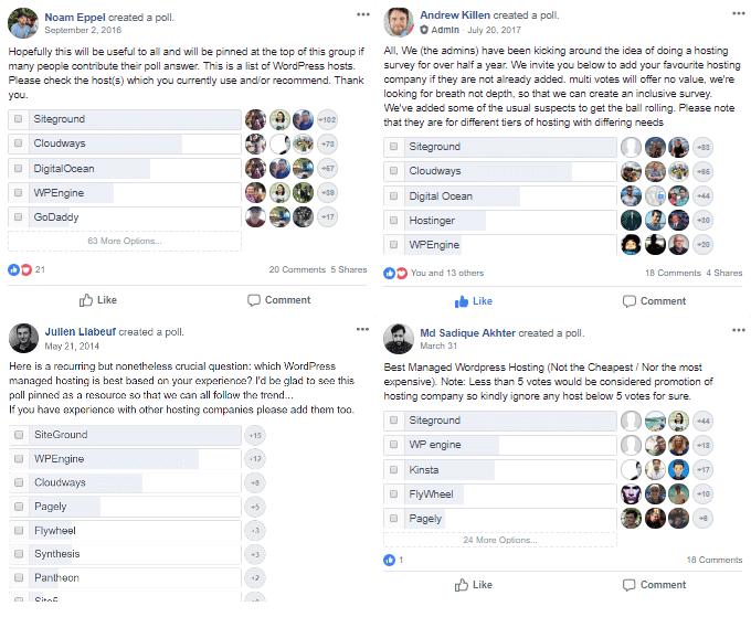 siteground在facebook投票中获得最佳网站空间称赞