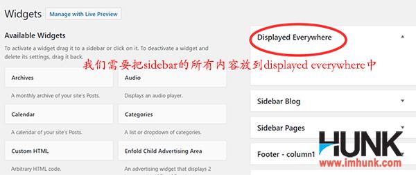 设置Enfold网站的sidebar和footer的内容 13-0