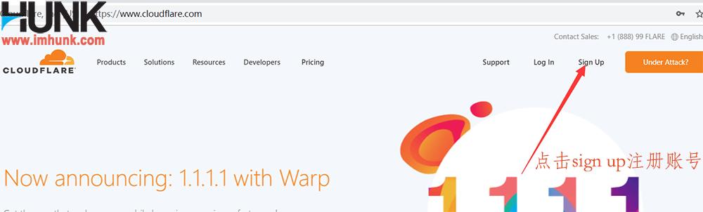 cloudflare注册账号 1