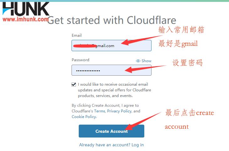 cloudflare注册账号 2